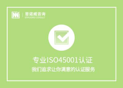办理ISO45001认证
